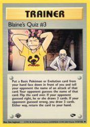 Blaine's Quiz #3