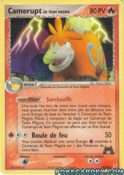 Camerupt de Team Magma
